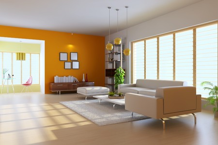 3d render inter of modern living room Stock Photo - 7351919