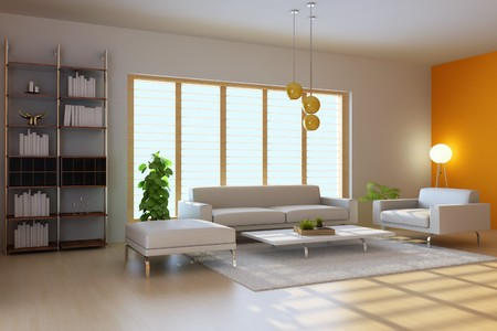 3d render inter of modern living room Stock Photo - 7351923