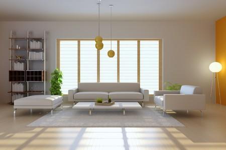 3D Render-Interieur des modernen Wohnzimmer
