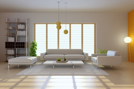 3d render interior of modern living room Stock Photo - 7351921