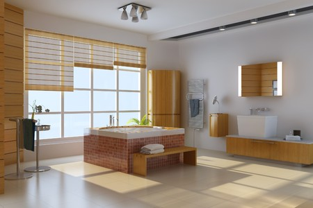 3d render interior of modern bathroom Stock Photo - 7403274