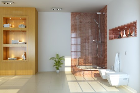 3d render interior of modern bathroom Stock Photo - 7450798