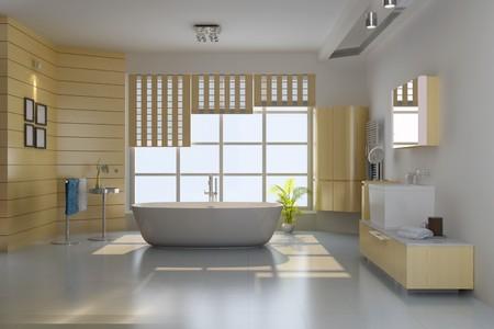 3d render interior of modern bathroom Stock Photo - 7492969