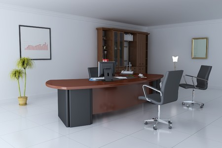 3d render interior of manager office photo