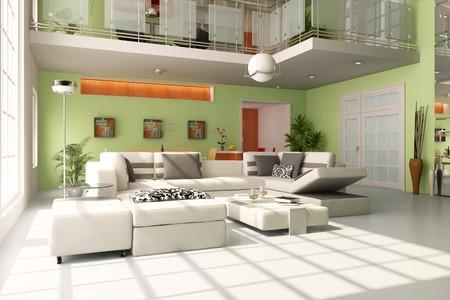 modern living room.3d render Stock Photo - 7938812