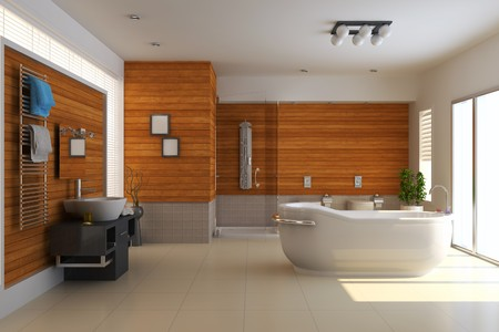 the bathroom with modern style.3d render Reklamní fotografie