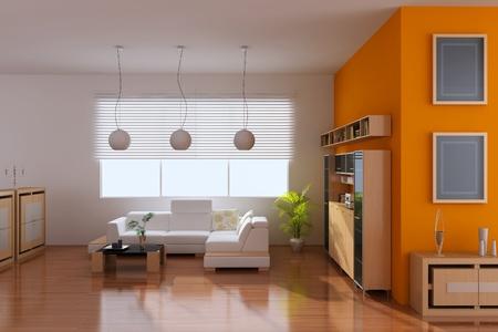 3d render interior of modern living room Stock Photo - 8656017