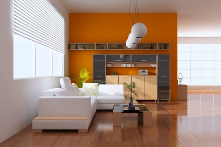 3d render interior of modern living room Stock Photo - 8656031