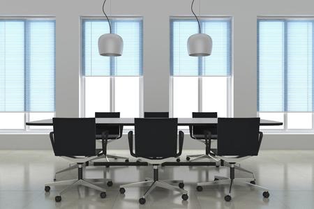 3d render modern meeting room