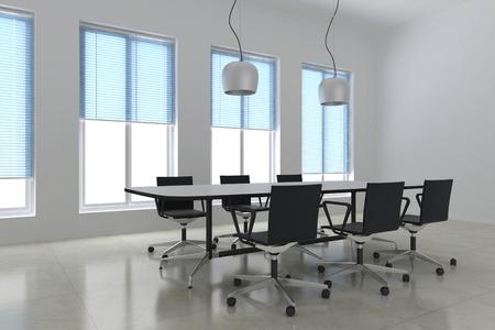 sala de reuniones: 3d hacer moderna sala de reuniones Foto de archivo