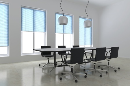 3d render modern meeting room