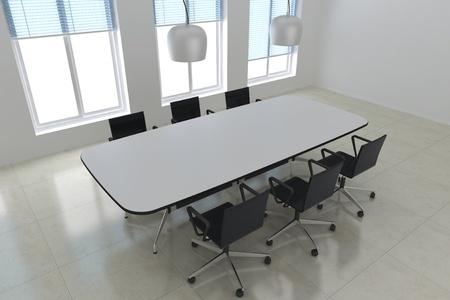 3d render modern meeting room photo