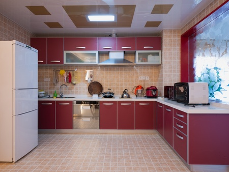 kitchen cabinet: modern domestic kitchen