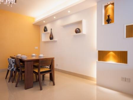 식탁과 의자 현대 식당