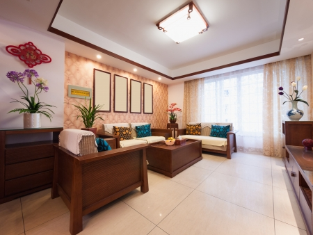 home interior decoration with chinese style photo