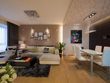 modern home interior Banque d'images