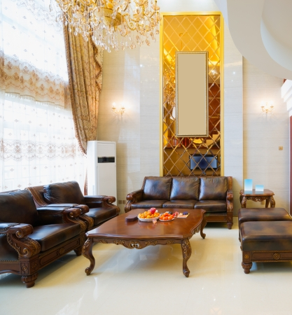 the luxury living room Banque d'images