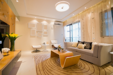 living room with modern style Banque d'images