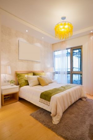the bedroom with modern style Banque d'images