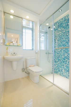 the bathroom with modern style photo