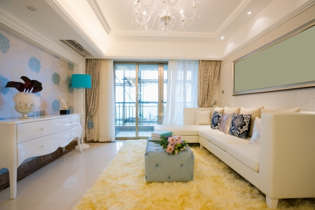the living room with modern style