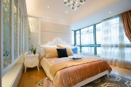 the bedroom with luxury decoration Standard-Bild