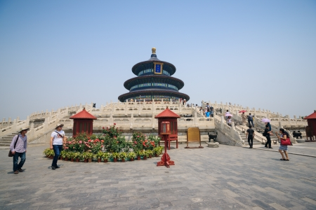 intact: Beijing, China - May 28, 2012: The Temple of Heaven was built in 1420,it remain intact through the Ming and Qing dynasty,and It is included in the UNESCO world heritage list in 1998.In the past,the emperors worshiped their ancestors or prayed for good har Editorial