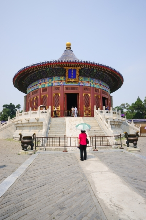intact: Beijing, China - May 28, 2012: the Imperial Vault of Heaven in the Temple of Heaven.The Temple of Heaven was built in 1420,it remain intact through the Ming and Qing dynasty,and It is included in the UNESCO world heritage list in 1998.In the past,the empe Editorial