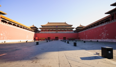 intact: the Meridian Gate of the Forbidden City.the Forbidden City was built in 1420,it remain intact through the Ming and Qing dynasty.Both in Ming and Qing dynasty,the emperors lived in Forbidden City and managered this country.It is included in the UNESCO worl