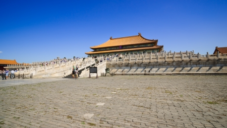 intact: Beijing, China - May 30, 2012: the Forbidden City was built in 1420,it remain intact through the Ming and Qing dynasty.Both in Ming and Qing dynasty,the emperors lived in Forbidden City and managered this country.It is included in the UNESCO world heritag Editorial