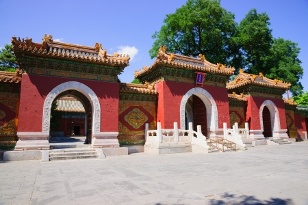 tourist attractions: Xiaoxitian Temple in Beihai Park in Beijing,it is a famous tourist attractions in Beihai Park