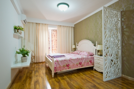 bedroom with classic forniture