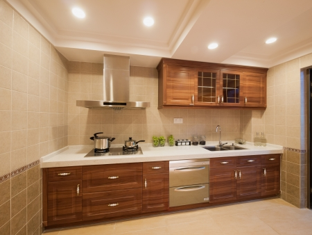 kitchen cupboard: the kitchen with classic cabinet