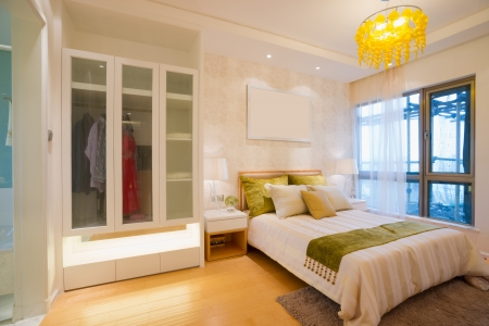 the bedroom with modern style photo