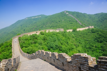great wall: Mutianyu Great Wall in Beijing Huairou,it is the famous part of the Great Wall that was built in Ming Dynasty.In ancient China,the government built the Great Wall and sent the military in here to defensed the invaders from nomads of the north.the Great Wa