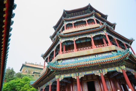 royals: Foxiang Buddhist Tower in Summer Palace,it was  built  during 1736-1795,the Royals burned incense and prayed at here in the past