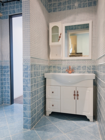 tiled wall: the bathroom with nice decoration