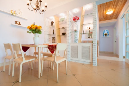 modern dining room with nice decoration