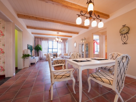 the house interior with nice decoration photo