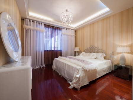 the modern bedroom with nice decoration Stock Photo - 20310192