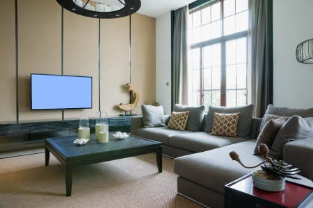 living room with nice decoration Stock Photo - 23446976