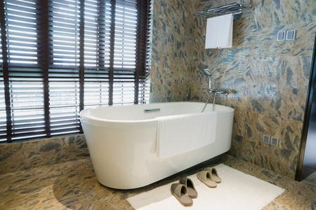 bathroom wall: luxury bathroom with nice decoration