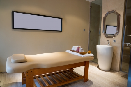 massage room in spa saloon