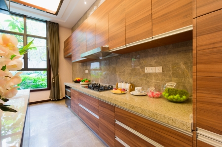 kitchen cabinet: modern kitchen with nice cabinet