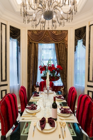 dining room: luxury dining room with very nice decoration