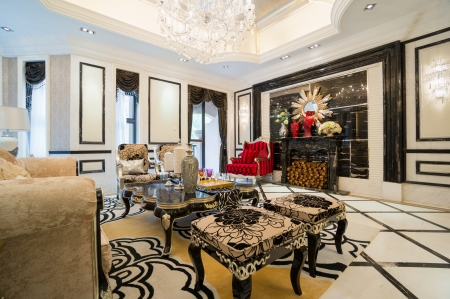 luxury living room with nice decoration