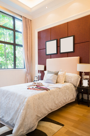 comfortable bedroom with nice decoration Stock Photo - 24283029