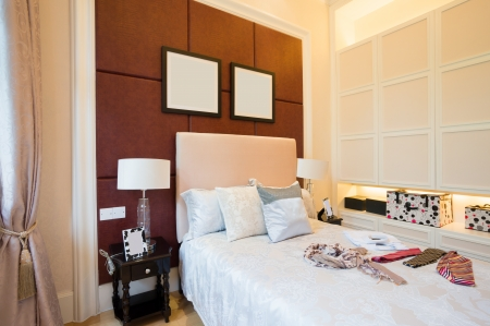 comfortable bedroom with nice decoration Stock Photo - 24283030