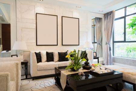 luxury living room with nice decoration Stock Photo - 24283032