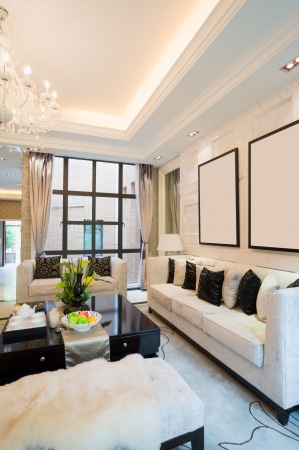 luxury living room with nice decoration Stock Photo - 24283035